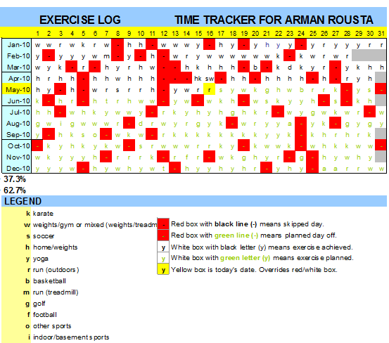 Remember Your 2010 Goals Get Back on Track with Goal Tracker – Goal Tracking Template